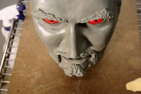 Very Early Clay Head Sculpture.  I Had Never Tried This Before, and it Shows