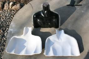 Original Foam Pattern Used to Make Single-Use Intermediate Fiberglass Mold