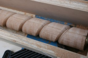 Each Pass Would Cut the Grooves Deeper.  The Router Bit Was Hand-Ground to Profile