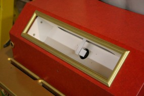 The Table Light Box - The Metal Shield Over the Bulb Prevents a Backlighting Hot Spot