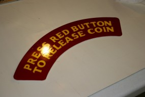 Translucent White Acrylic Panels with Yellow and Red Translucent Vinyl Overlays