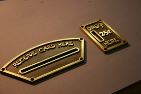 Brass-Loaded Urethane Castings - the Font had to be Hand-Drawn