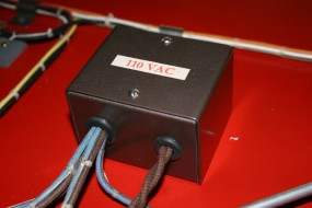 As with the Lower Cabinet the Line Voltage Wiring on Top was Segregated and Labeled
