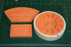 Rosette Trim Mold Along With the Coin Entry and Card Plate Molds