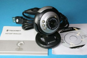 A 720p HD USB Webcam with 6 LEDs. Software Disk Included